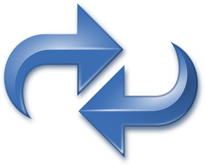 Arrows, Blue, Double, Reverse, Redo, Reload, Cycle