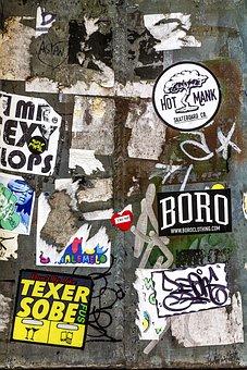 Background, Textures, Wall Art, Graffiti, Stickers