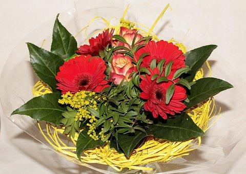 Bouquet Of Flowers, Birthday Bouquet, Cut Flowers