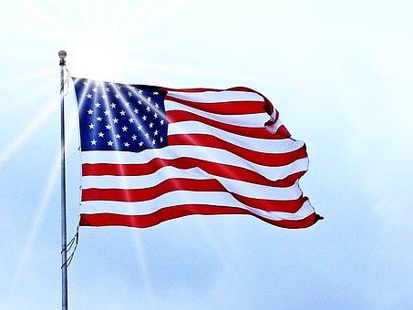 Usa Flag, Flag, Usa, American, United, Blue, White, Red