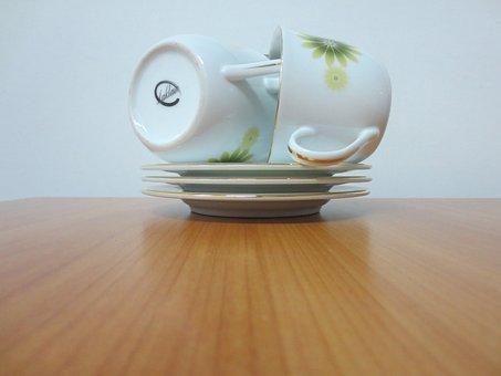 Crockery, Cups, Tea, Saucers, Kitchen, Tableware