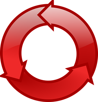 Arrows, Cycle, Red, Reload, Recycling, Synchronise