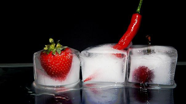 Appetizing, Berry, Delicate, Delicious, Ice, Strawberry