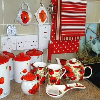 Crockery, Kitchen, China, Mugs, Tea, Ceramic, Dishware
