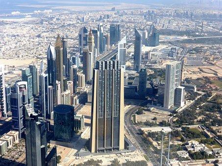 Skyscrapers, Dubai, View, Burj Khalifa, Emirates