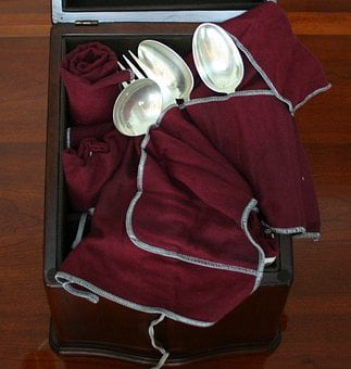Storage Chest, Spoons, Fork, Flatware, Ladel