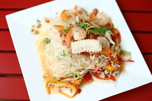 Vermicelli Salad, Food, Savory