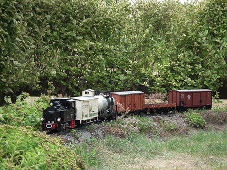 Garden Railway, Steam Locomotive, Freight Train, Lgb