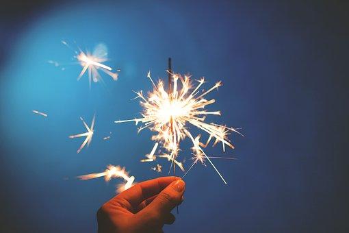 Sparklers, Hands, Lights, Celebration, Independence Day