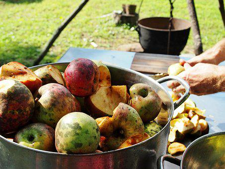 Rustic, Arkansas, Homestead, Apples, Applesauce