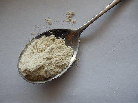 Flour, Spoon, Spoonful, Ingredient, Baking, Bakery