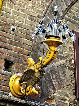 Siena, Streetlamp, Palio, Tuscany, Italy, Yellow
