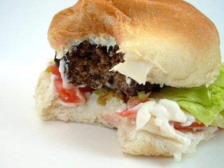 Hamburger, Meat, Junk Food, Food, Fast, Junk, Bread
