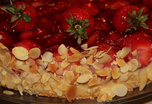 Strawberry Pie, Almonds, Cake, Mother's Day