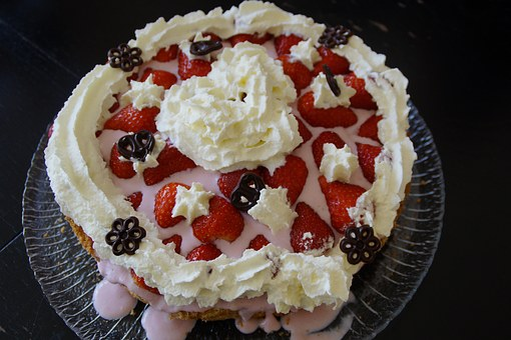 Mother's Day, Birthday Cake, Cake, Strawberry Pie
