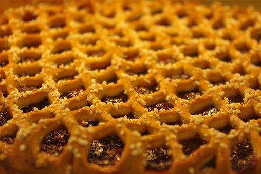 Cake, Cherry Pie, Tray, Pastries, Sweet, Food, Bake