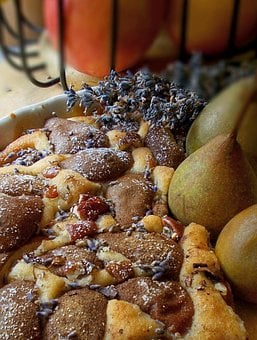 Pear Cake, Lavender, Pecans, Pear, Pears, Nuts