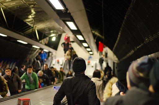 Rush Hour, Traffic, Metro, Subway, People, Waiting