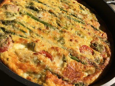 Food, Pie, Culinary Arts, Eggs, Asparagus Tart