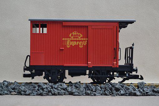 Railway, Track 1, Lgb, Goods Wagons, Garden Railway