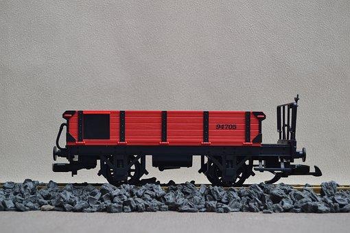 Railway, Track 1, Lgb, Open Wagon, Garden Railway