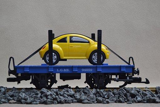 Railway, Track 1, Lgb, Autotransporter, Garden Railway
