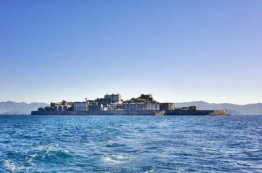 Japan, Nagasaki, Warship Island, Sea, Coal Mine, Island