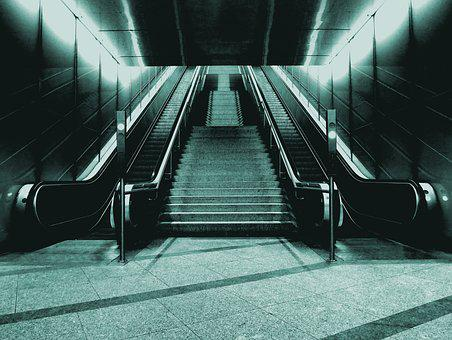 Escalator, Subway, Transport, Metro, Station, City