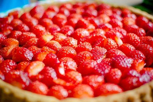 Strawberry Cake, Strawberries, Cake, Delicious