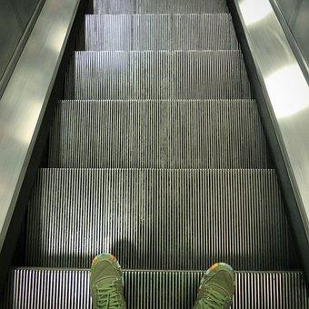 Underground, Escalator, Subway, City, Transit, Tube