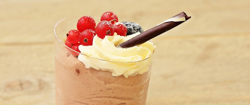 Dessert, Chocolate Cream, Sweet Dish, Sweet, Sweet Food