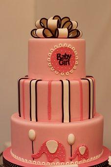 Baby, Girl, Cake, Pie Art, Three Stories, Infant, Child