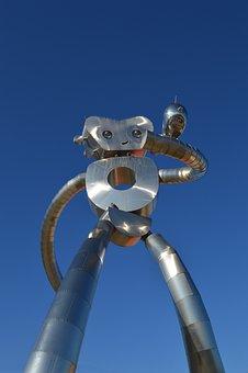 Robot, Dallas, Texas, Art, Contemporary, City, Travel