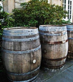Wooden Barrels, Wood, Old, Rustic, Barrel, Gastronomy