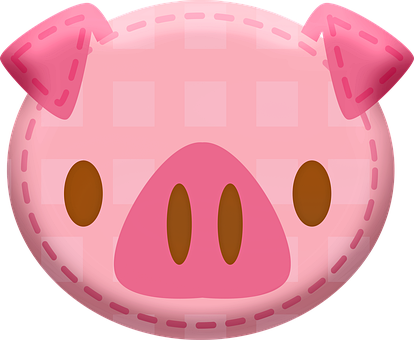 Kawaii Animal Patches, Kawaii Pig, Animals, Kawaii