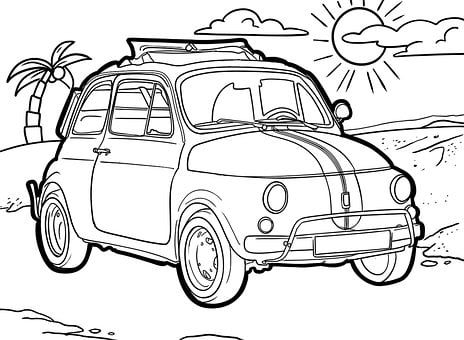 Oldtimer, Drawing, Auto, Design, Vehicle, Classic