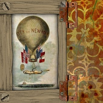 Steampunk, Background, Hot Air Balloon, Transport