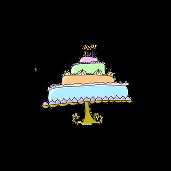Cake, Birthday, Food, Sweet, Dessert, Celebration