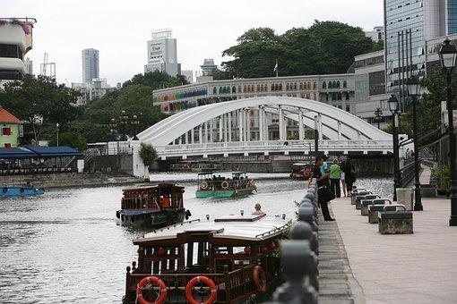 Singapore, Waterway, Vacation, Boat, Romantic, Tourism