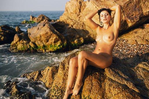 Sea, Nude, Bikini, Ass, Girl, Sexy, Woman, Body, Summer