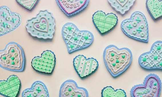 Hearts, Love, Cookies, Mothers Day, Valentines Day