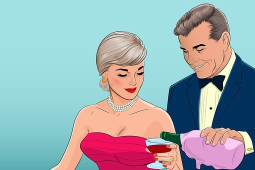 Man, Woman, Wine, Couple, Relationship, People