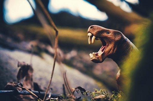 Stone Age, Hunter, Dinosaur, Tyrannosaurus, Monsters