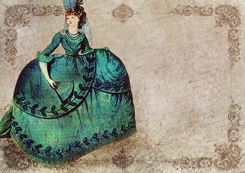 Vintage, Lady, Rococo, Dress, Baroque, Fashion