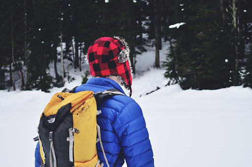 Snow Hiking, Camping, Hiking, Mountains
