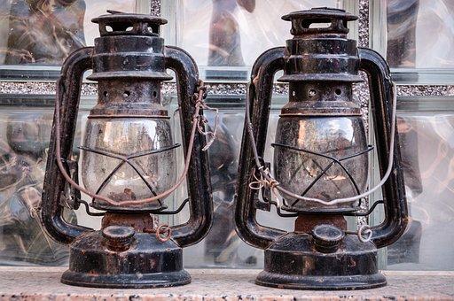 Antique, Lamp, Lantern, Old, Vintage, Lighting