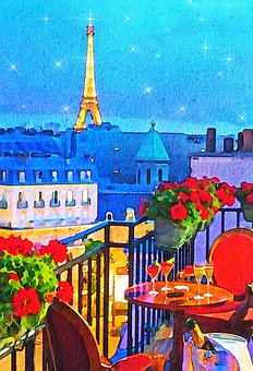 Paris Night Sky, Paris Balcony, Eiffel Tower, Paris