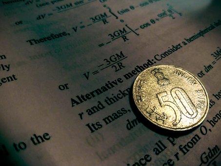 Coin, Spotlight, Rupee, 1, Book, Books, Education