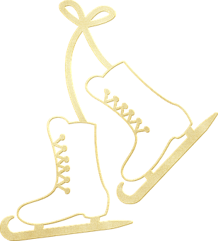 Gold Foil Ice Skates, Gold Ice Skates, Skates, Ice
