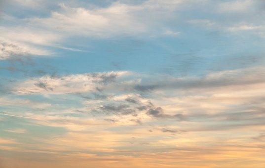 Subtle, Orange, Blue, Radiant, Sky